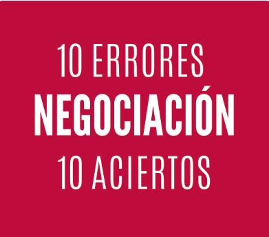 errores y aciertos de negociacion